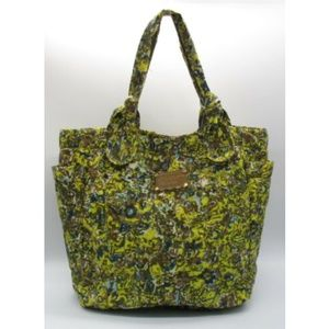 Marc by Marc Jacobs yellow brown nylon floral tote